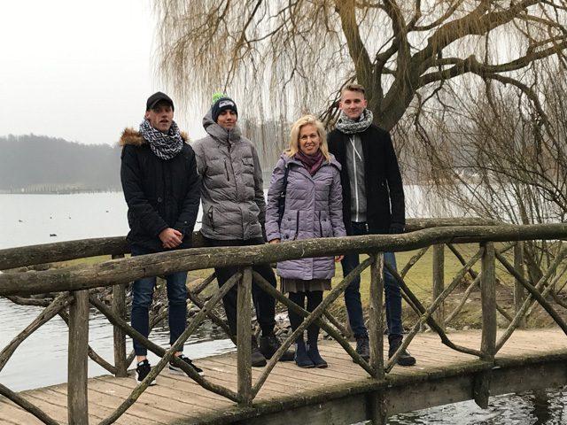 A lettországi Ogre szakiskolájának diákjai