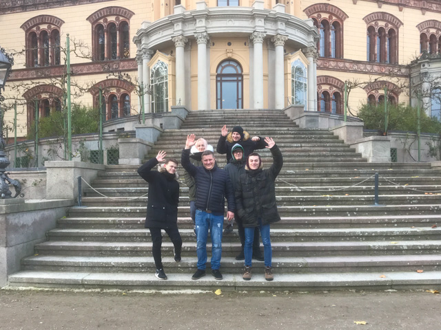 Trainees from Kuldīga, Latvia visit Schwerin.